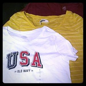 3 old navy shirts